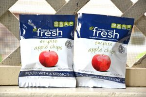 Two bags of Farmer Street Pantry Apple Chips