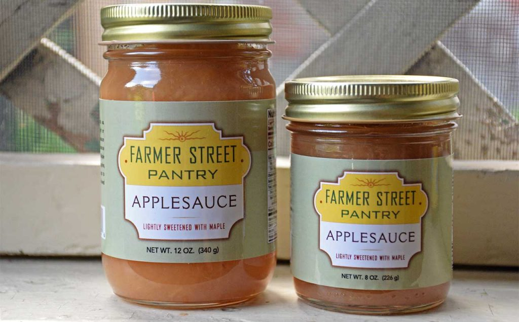 Farmer Street Pantry Applesauce in two sizes