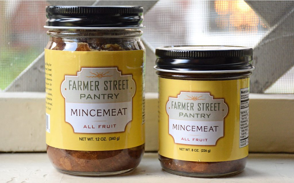 Farmer Street Pantry Mincemeat jars in two sizes