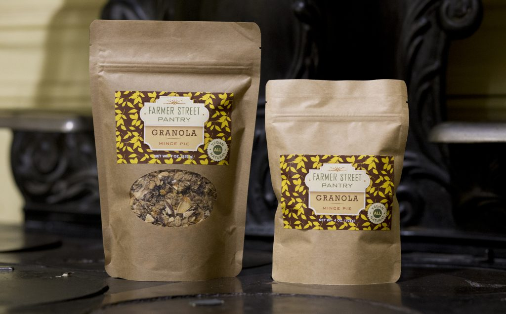 Packages of granola